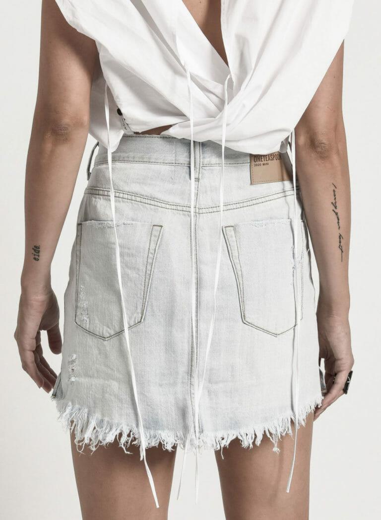 21647 2020 MINI brando high waist denim skirt 4