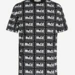Czarny t-shirt z printem MCQ - MCQ Alexander McQueen