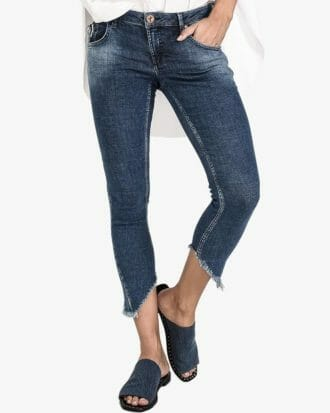 Cali Blue Freebirds Ii Low Waist Skinny Jean 1