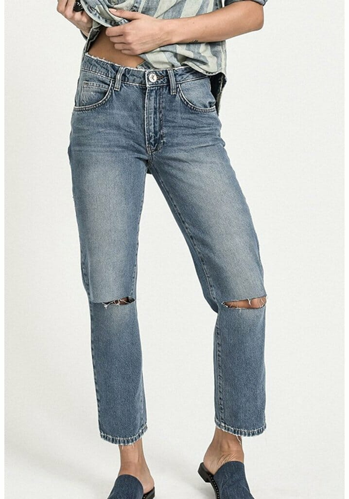Hollywood Awesome Baggies High Waist Straight Leg Jean 1