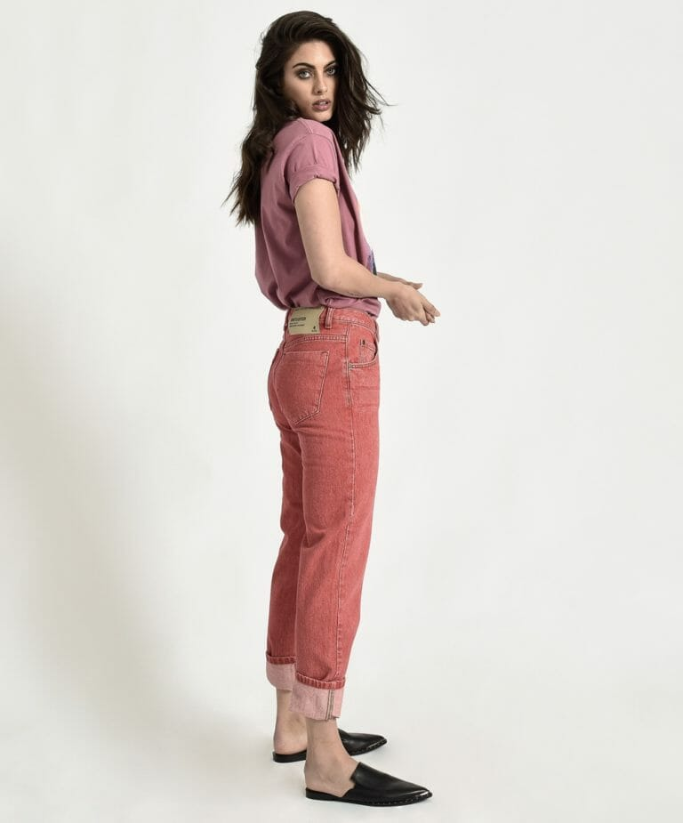 Organic Red Awesome Baggies High Waist Straight Leg Jean 2
