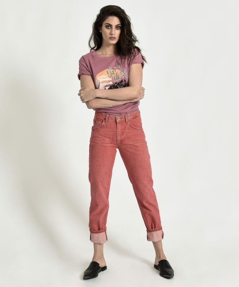 Organic Red Awesome Baggies High Waist Straight Leg Jean 3