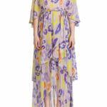 Sukienka w fioletowe cętki - Just Cavalli