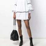 Sukienka biała - MCQ Alexander McQueen