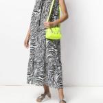 Sukienka z printem zebra - MCQ Alexander McQueen