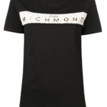 Czarny t-shirt z printem - John Richmond