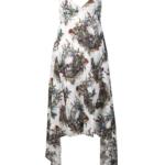 Sukienka w czaszki i kwiaty - John Richmond
