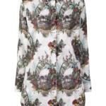 Koszula w czaszki i kwiaty - John Richmond