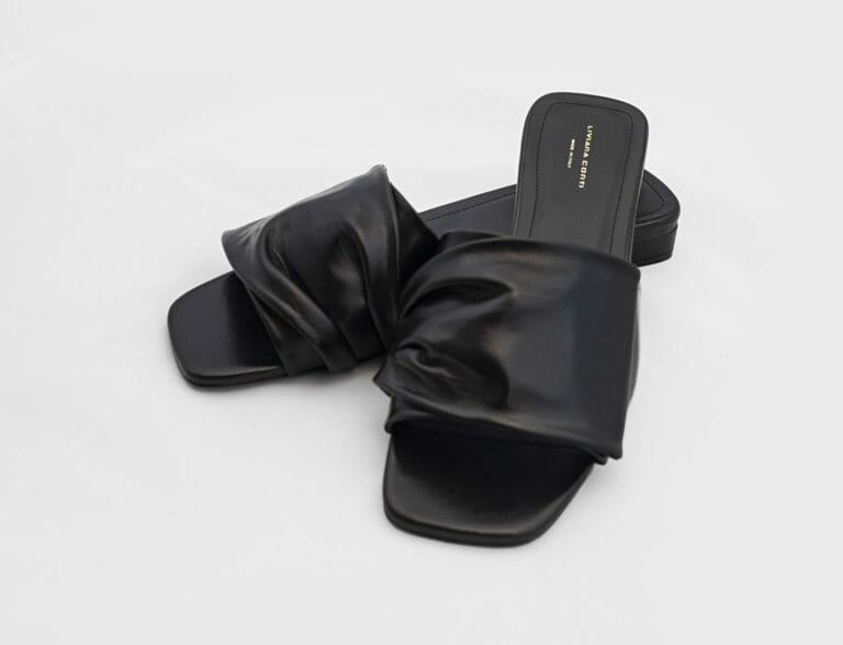 buty klapki czarne liviana conti 2