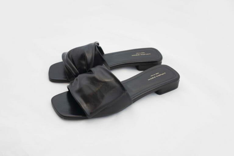 buty klapki czarne liviana conti