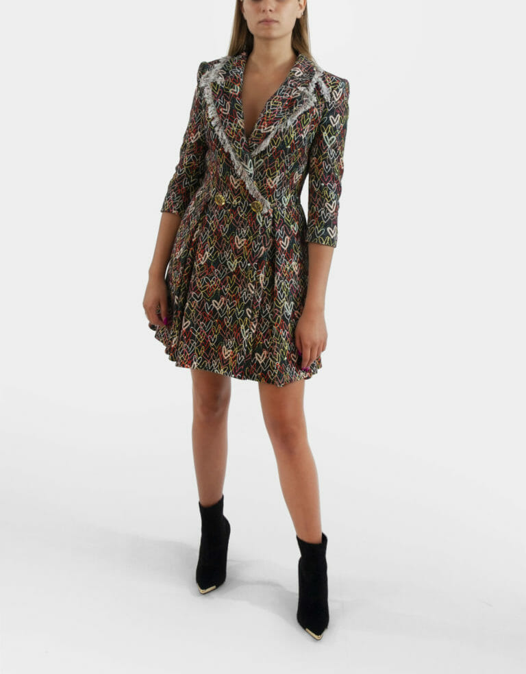 sukienka elisabetta franchi gruby material