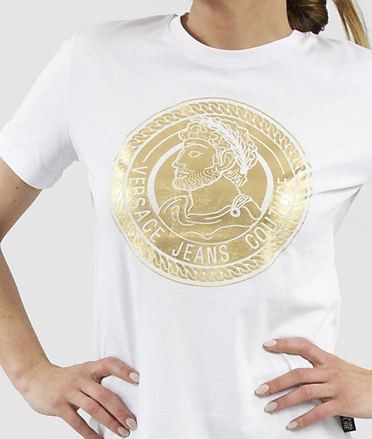 bialy t shirt damski versace jeans couture 1