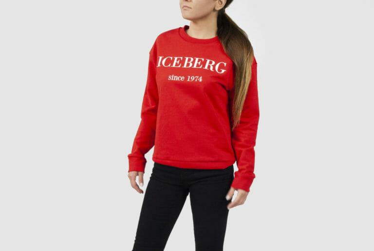 iceberg czerwona bluza damska z logo