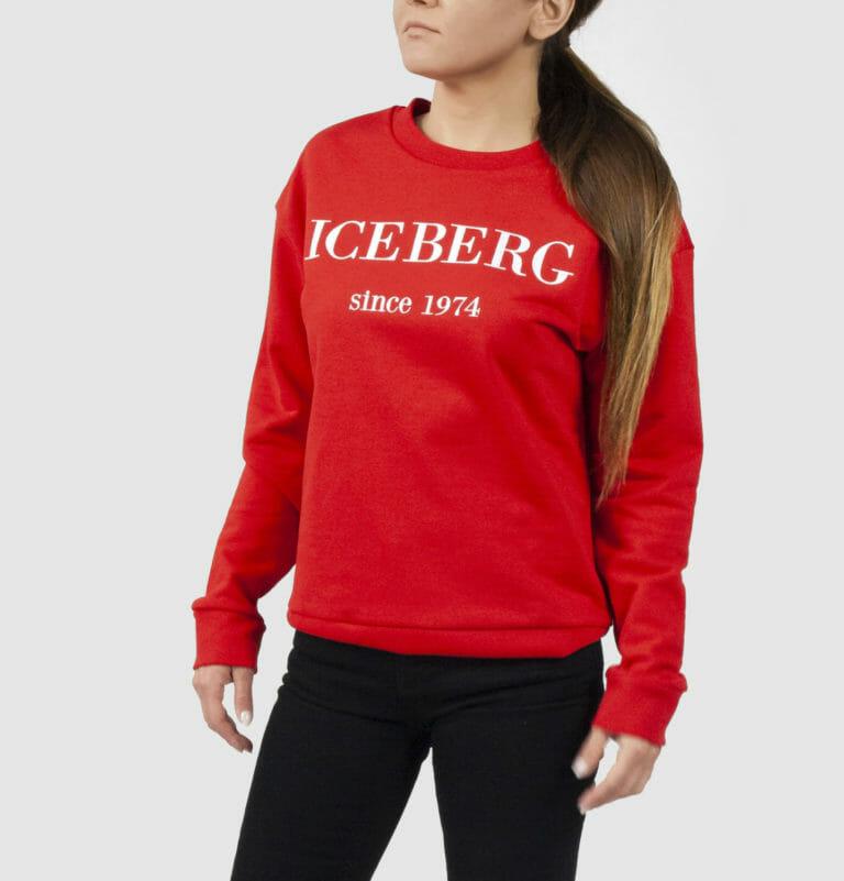 iceberg czerwona bluza damska z logo3