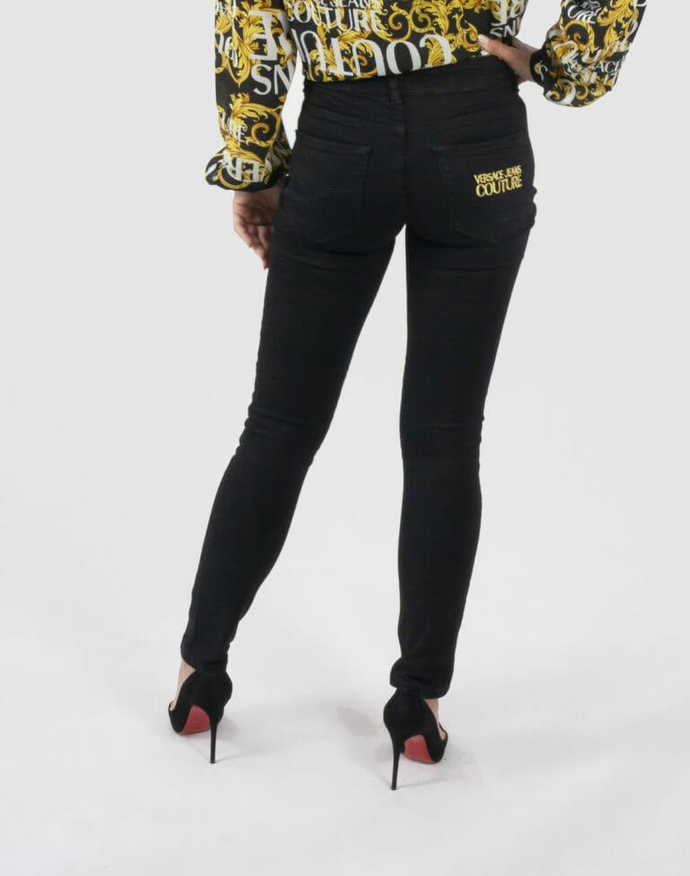 jeansy czarne spodnie versace jeans couture 2