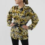 Koszula z printem i zdobieniami - Versace Jeans Couture