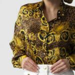 Koszula z barokowym printem - Versace Jeans Couture
