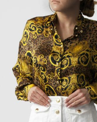 koszula w print versace jeans couture damska 1