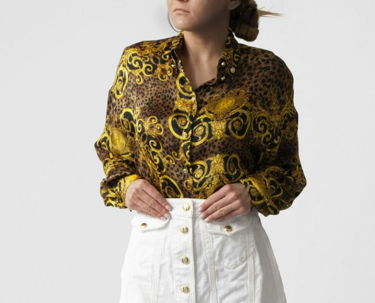 koszula w print versace jeans couture damska