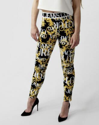 leginsy versace jeans couture z printem w logotyp 2