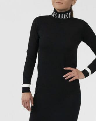 sukienka z golfem iceberg czarna 2