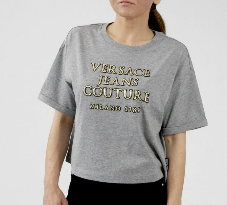 szary t shirt versace jeans couture z logo 2