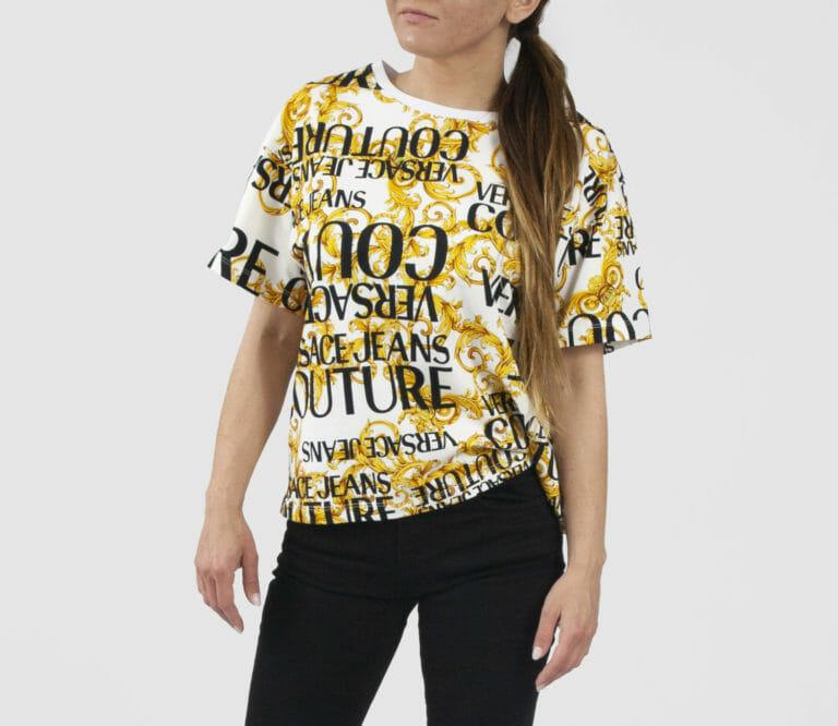 t shirt damski z logo versace jeans couture 2