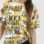 T-shirt z printem i napisem - Versace Jeans Couture