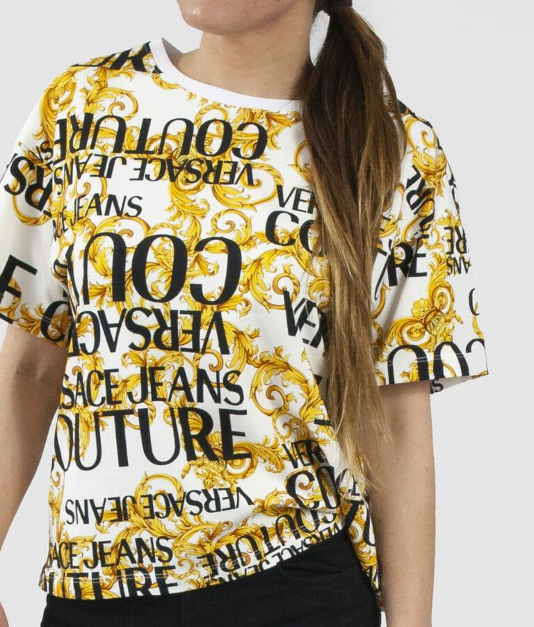 t shirt damski z logo versace jeans couture 3