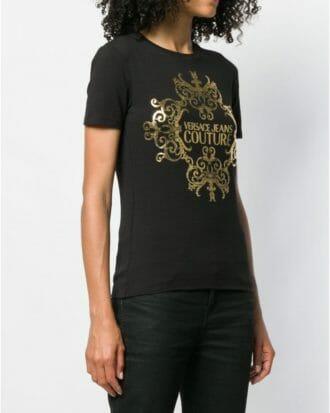 T shirt ze złotym nadrukiem Versace Jeans Couture 1
