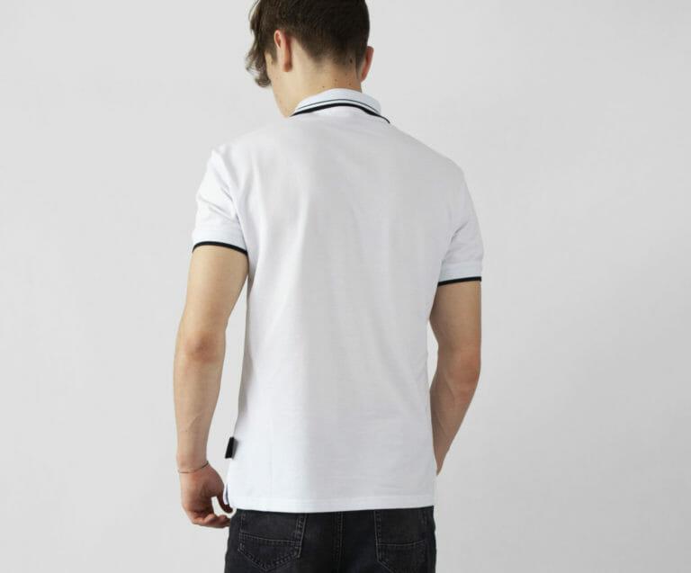 biala koszulka polo versace jeans couture 1