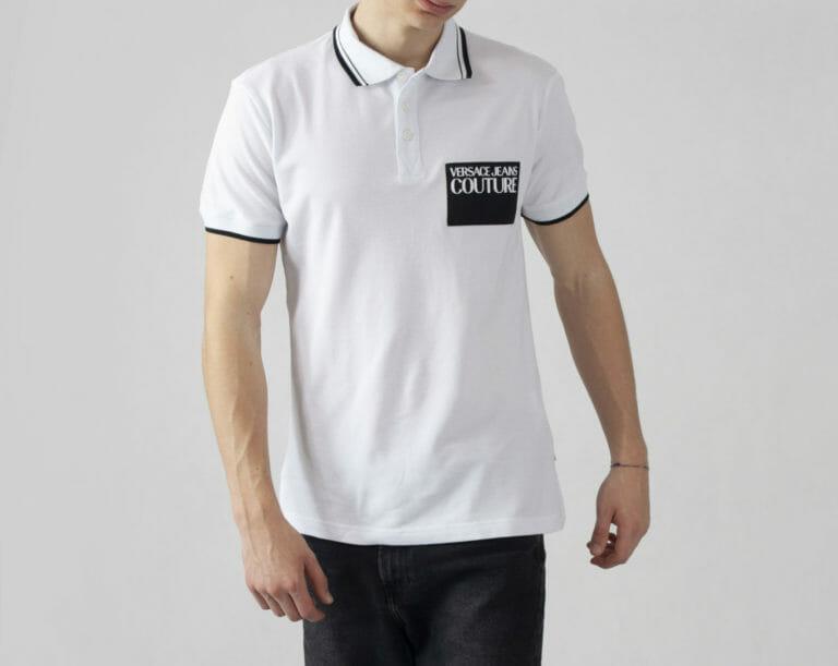 biala koszulka polo versace jeans couture 2