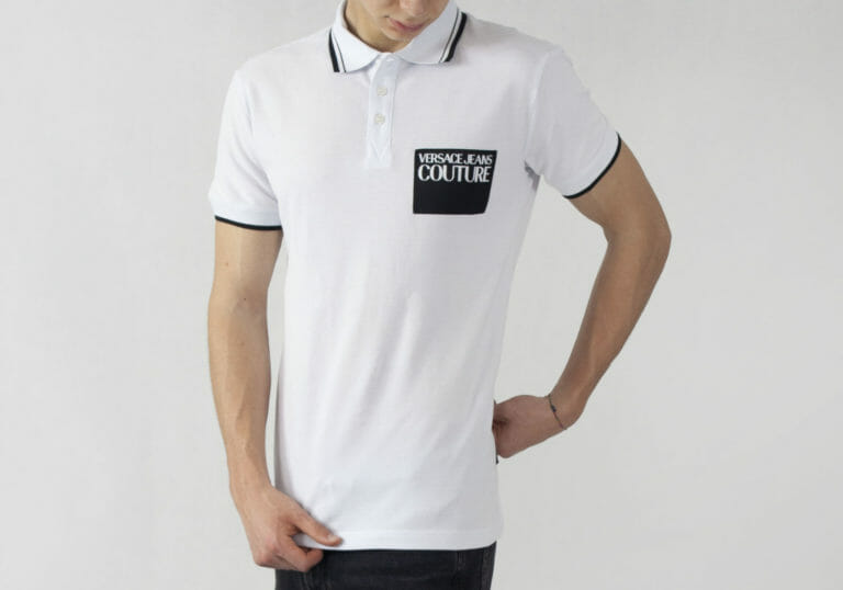 biala koszulka polo versace jeans couture 3