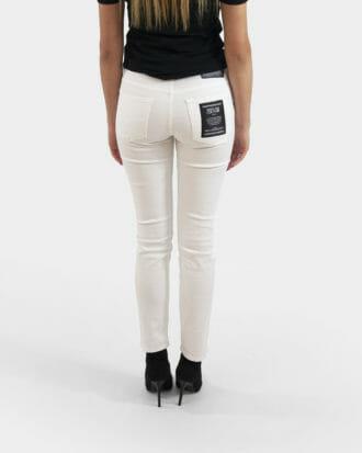 biale damskie spodnie versace jeans couture 1