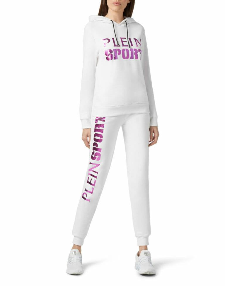 biale spodnie dresowe damskie plein sport wroclaw 2