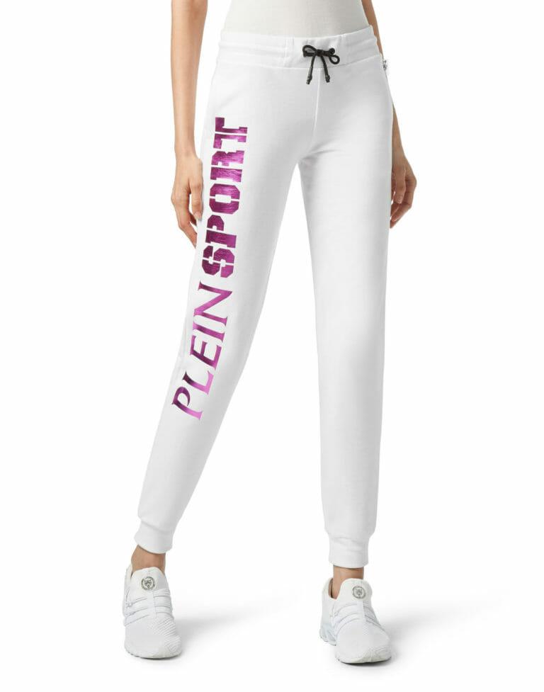 biale spodnie dresowe damskie plein sport wroclaw 4