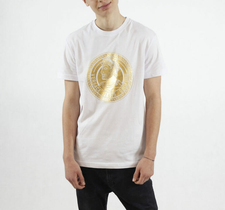 bialy t shirt versace jeans couture meski