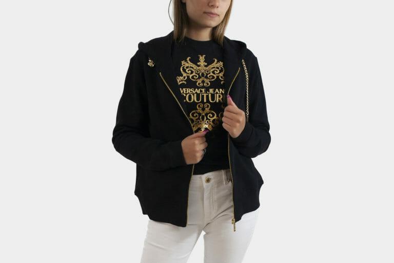 bluza versace jeans couture damska czarna