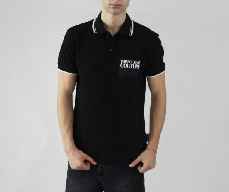 czarna koszulka polo versace jeans couture 1