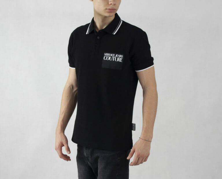 czarna koszulka polo versace jeans couture 3