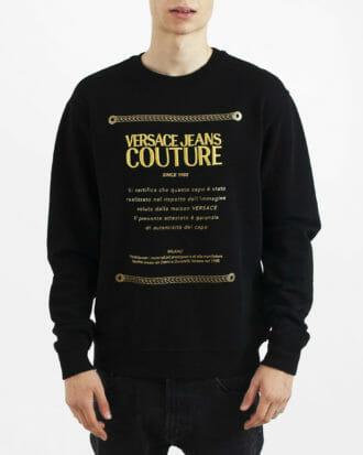 czarna meska bluza versace jeans couture