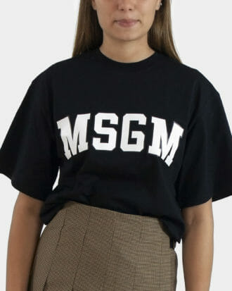 czarny t shirt damski msgm 2