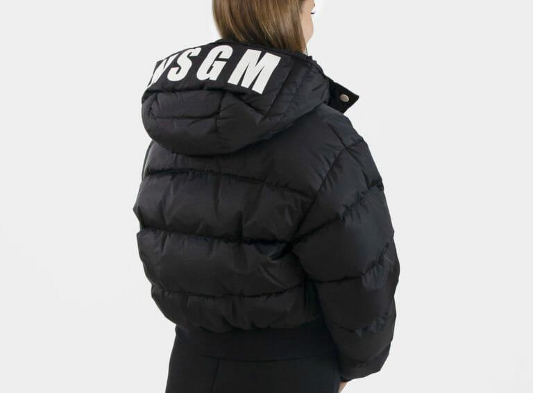 damska czarna kurtka msgm 1