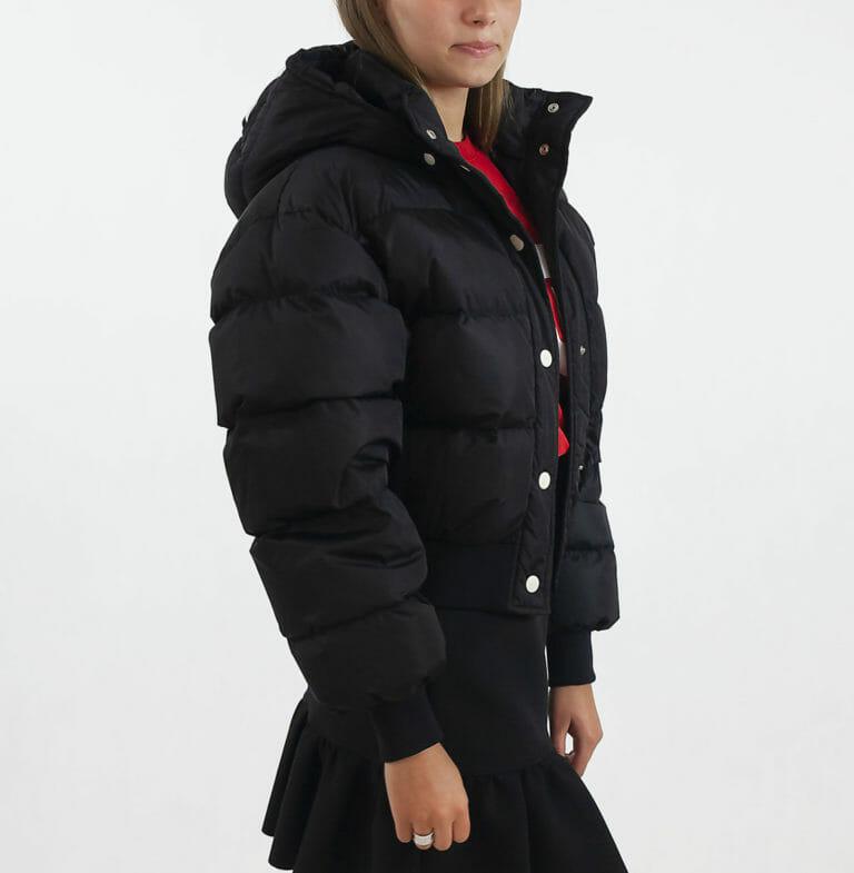 damska czarna kurtka msgm 3