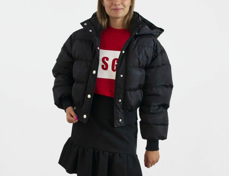 damska czarna kurtka msgm