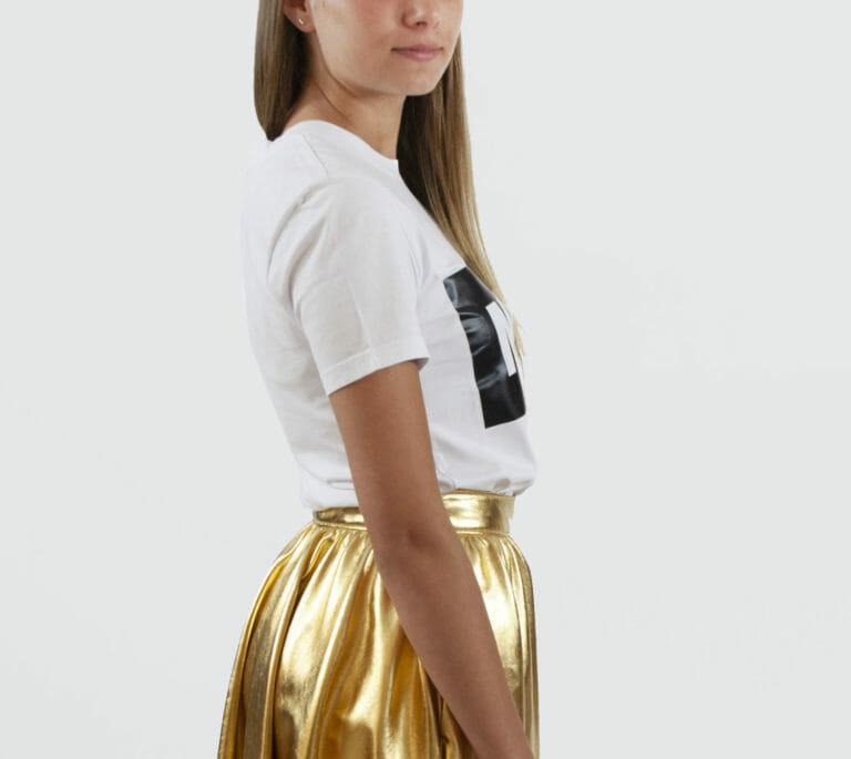 damski bialy t shirt msgm 1