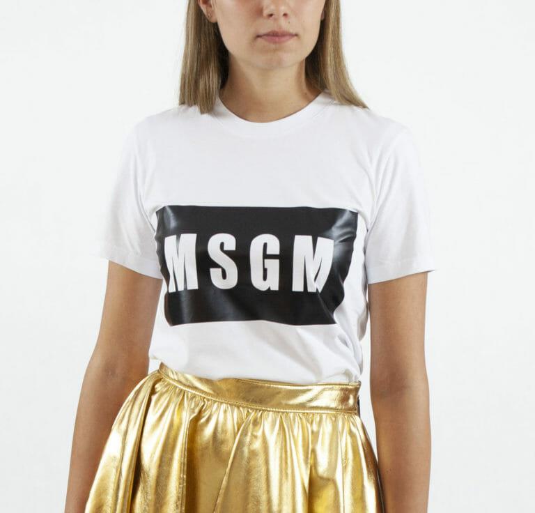 damski bialy t shirt msgm 2