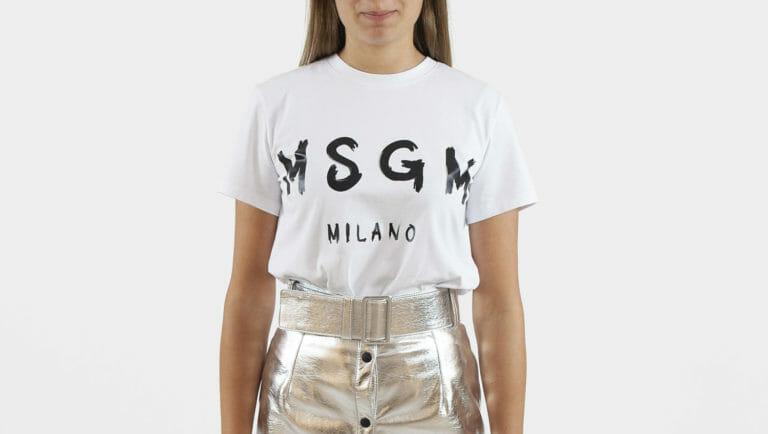 damski bialy t shirt msgm milano 1