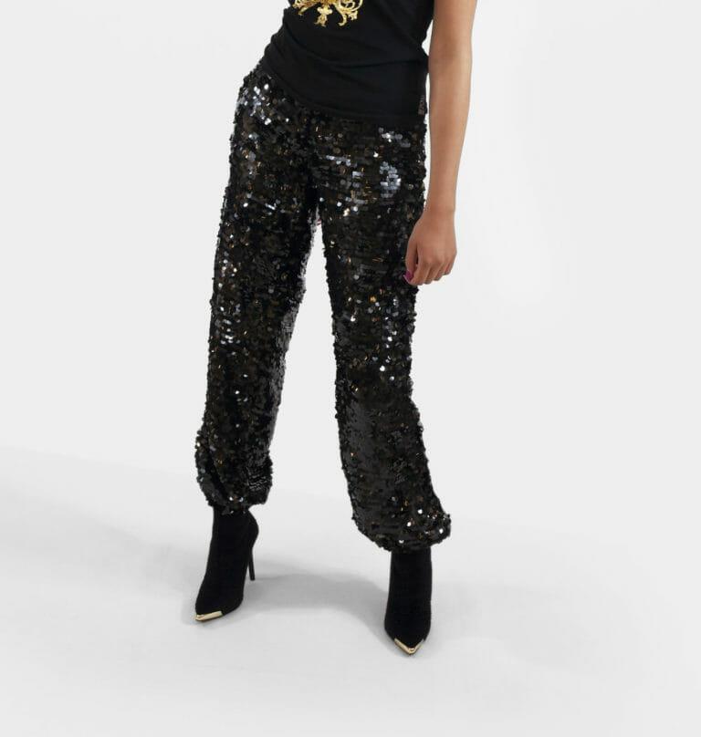 damskie spodnie z cekinami msgm