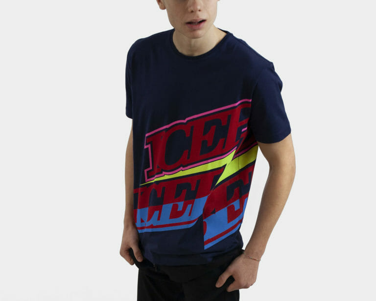 iceberg meski t shirt z napisami 1